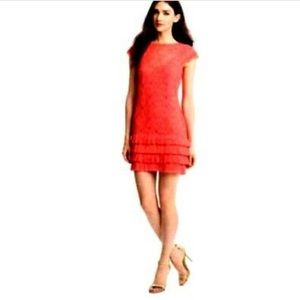 NEW Jessica Simpson | Red Lace Tiered Pleat Dress